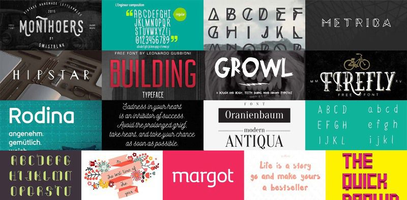 17 Incredible Fonts for Free [sponsor]