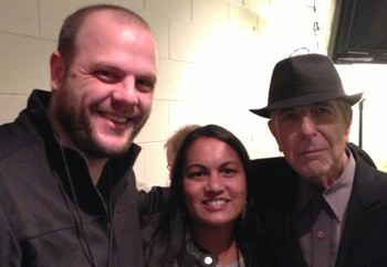 Me, Aditi and Leonard Cohen