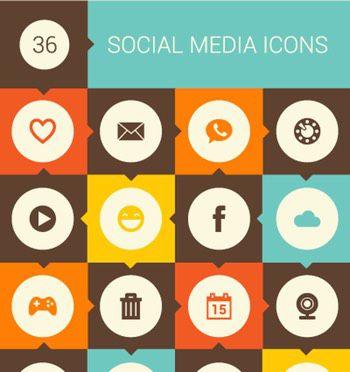 Retro Social Icons