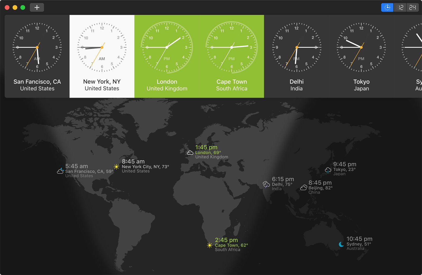 Time Zones World Map Converter.World Clock Pro A Fancy International Time Zone Converter