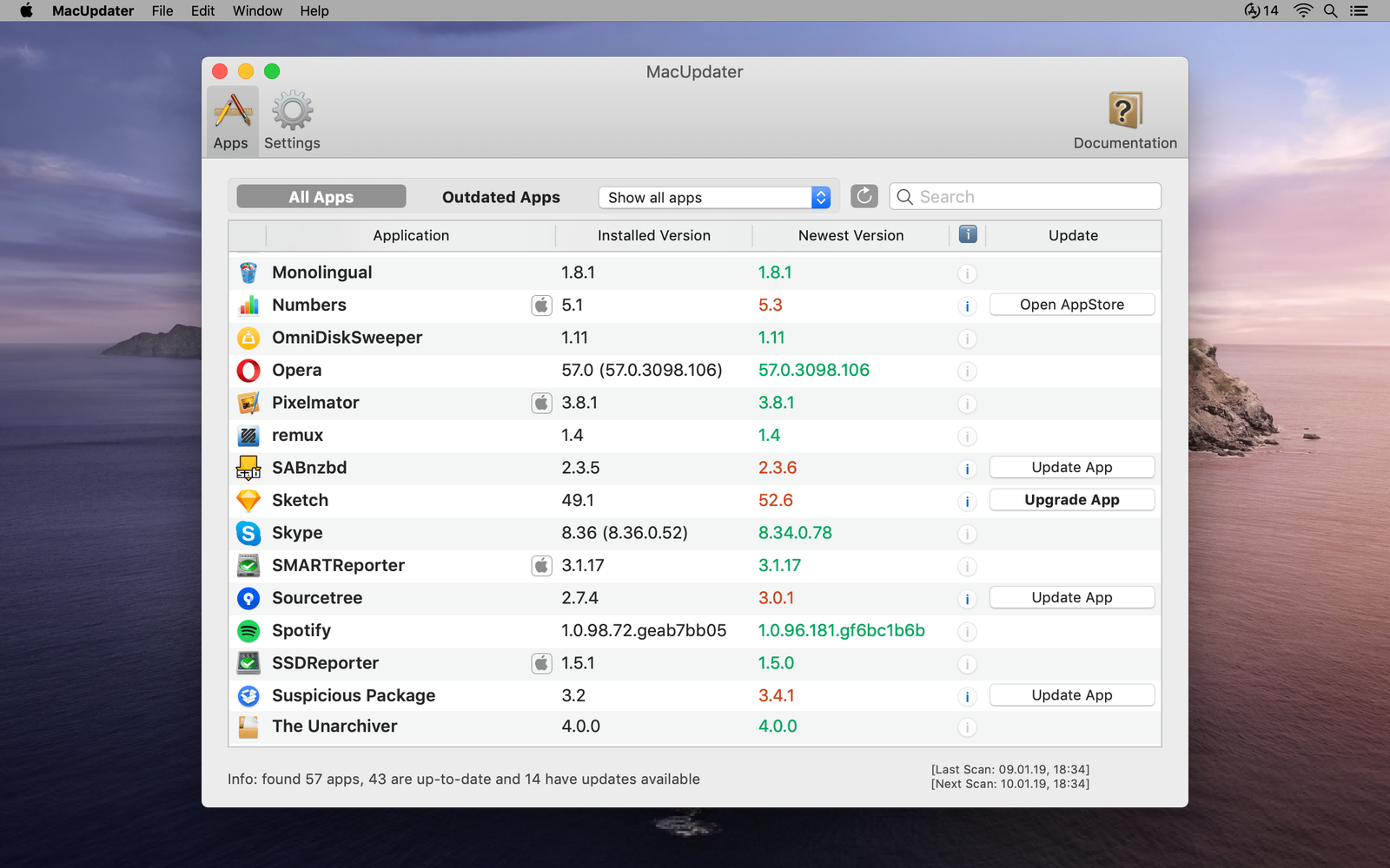 MacUpdater --- effortlessly keep all your apps up to date