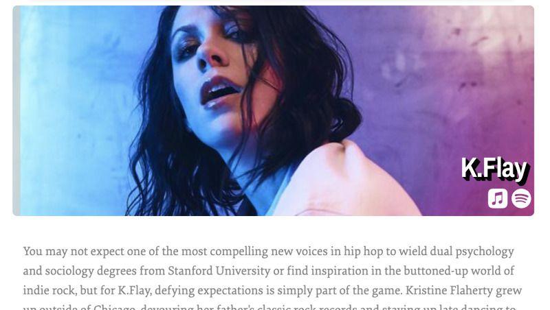 Top Artist Bio on iPad