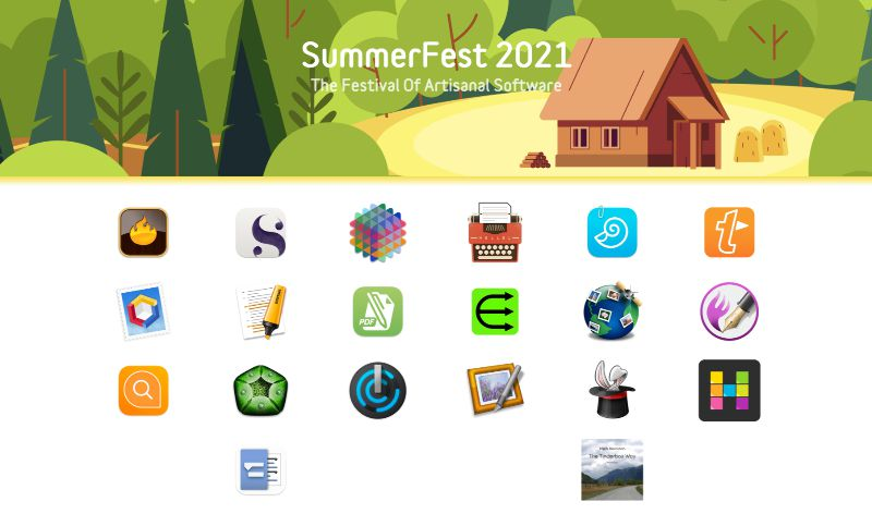SummerFest logo and app images
